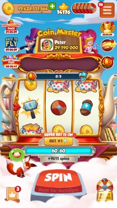 Ads in Coin Master are on the left side of the screen