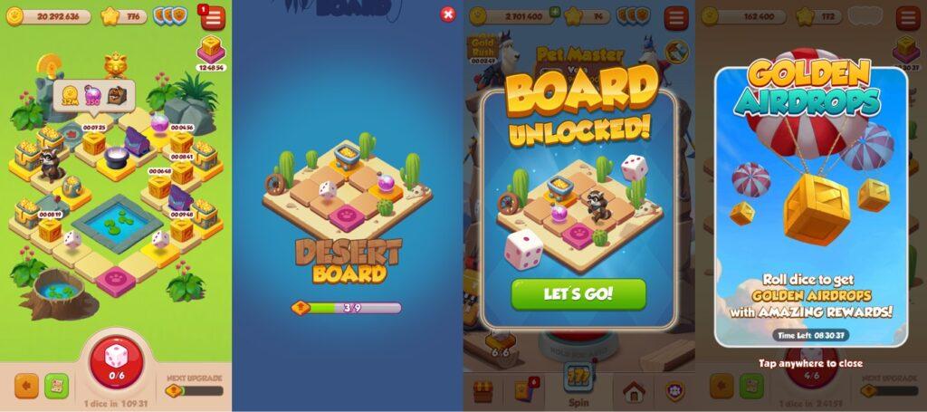 Pet Master Dice game board