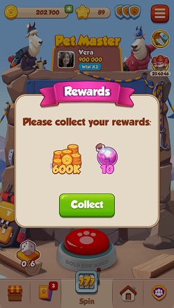 Free Pet Master Coins and Spins Rewards