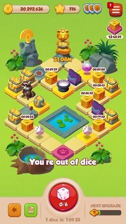 Pet Master Jungle Board Dice game