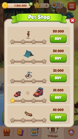 Coin Master Village items