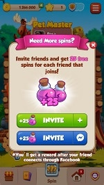Pet Master add friends for free spins