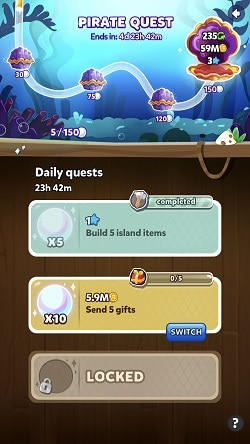 Pirate Quests in Pirate Kings